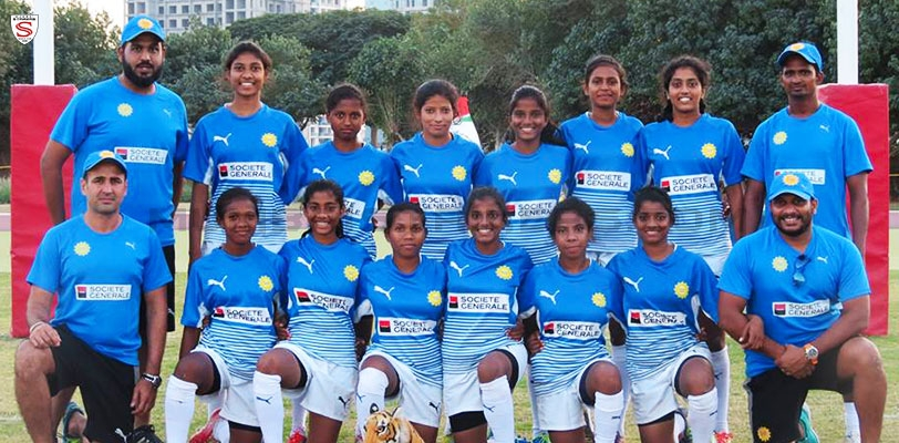 The Indian U18 Girls Rugby Team win bronze medal at the Asian U18 Girls 7s.